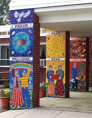 School Murals Gymnasium Wall Part 49