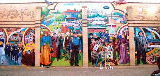 Murals muralist mural artist mosaics mosaic artist for Mural history