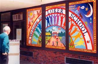 Murals muralist mural artist mosaics mosaic artist for Elementary school mural ideas